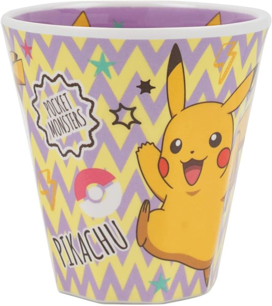 Photo1: Pokemon 2020 Tableware Melamine Cup Pikachu 270 ml (1)