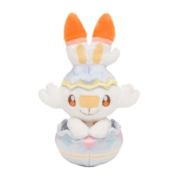 Photo1: Pokemon Center 2021 Happy Easter Basket Egg Scorbunny Plush doll (1)