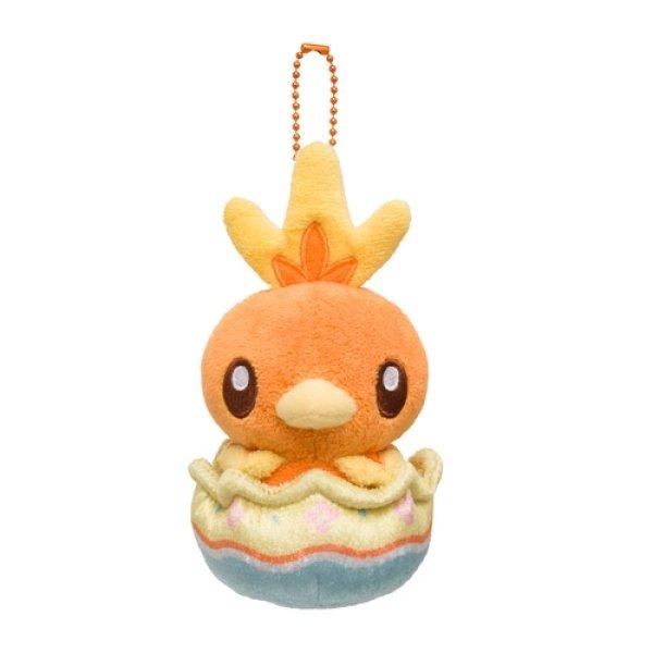 Photo1: Pokemon Center 2021 Happy Easter Basket Egg Torchic Plush Mascot Key chain (1)