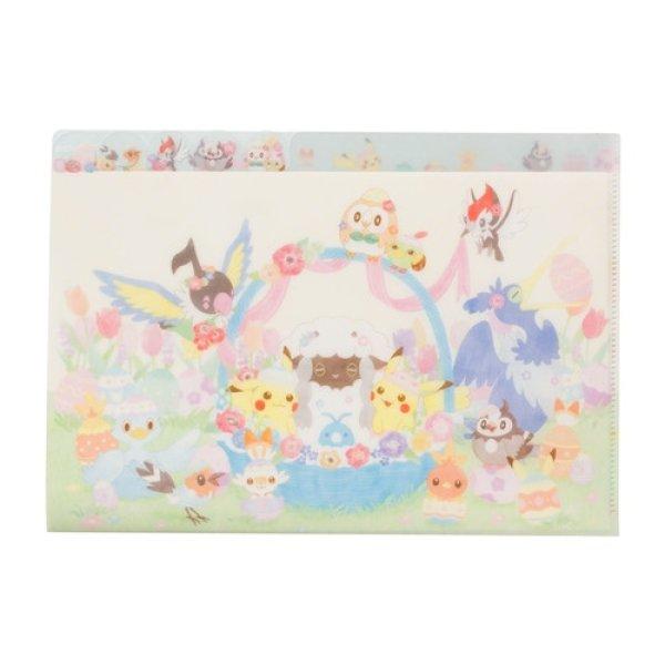 Photo1: Pokemon Center 2021 Happy Easter Basket 5 Page A4 Size Clear File Folder (1)