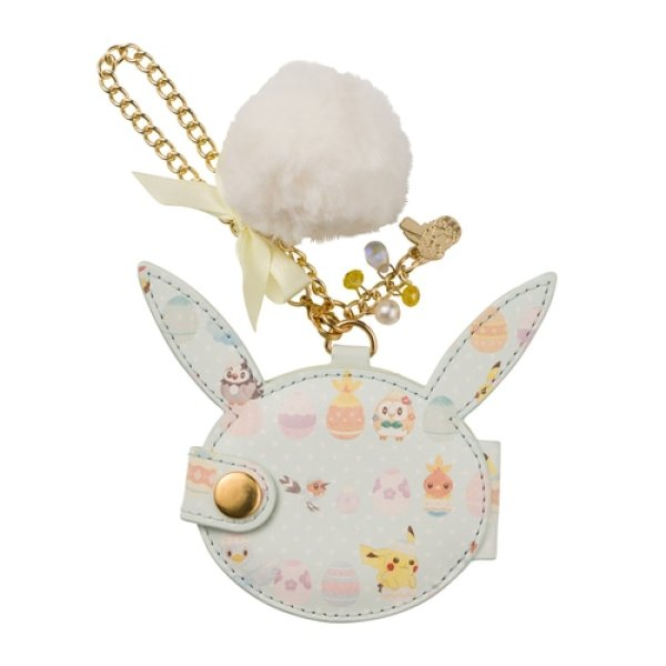 Photo1: Pokemon Center 2021 Happy Easter Basket Bag charm mirror Key chain (1)