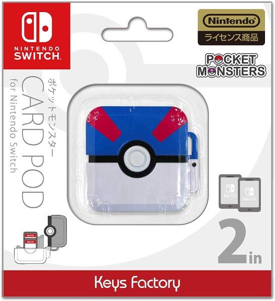 Photo1: Pokemon Nintendo Switch Card Pod 2 in Super ball Holder Storage (1)