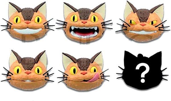 Photo1: Studio Ghibli Figure Magnet Face My Neighbor Totoro Neko Cat Bus 6 pcs Complete set (1)