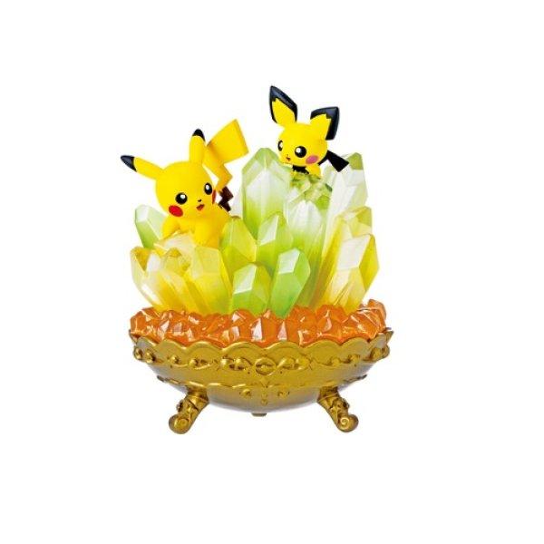 Photo1: Pokemon 2021 Gemstone Collection vol.1 #1 Pikachu Pichu Mini Figure (1)
