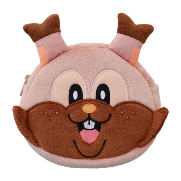 Photo1: Pokemon Center 2021 Pikachoose Greedent Face Pouch case (1)