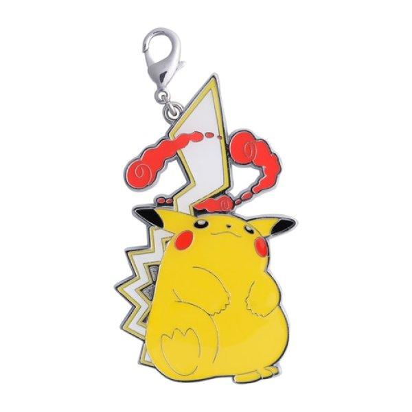 Photo1: Pokemon Center 2021 Metal Charm Gigantamax Pikachu (1)