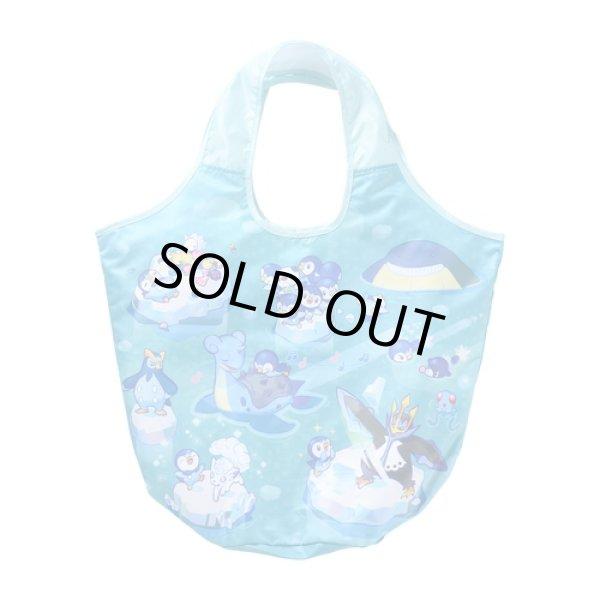 Photo1: Pokemon Center 2021 Pochama's daily life Piplup Folding Eco bag Tote Bag (1)