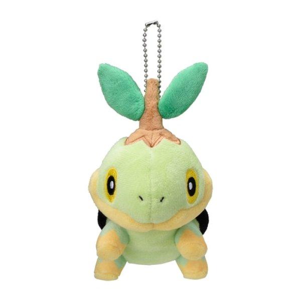 Photo1: Pokemon Center 2021 Plush Mascot Key Chain Turtwig  (1)