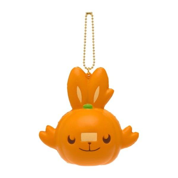 Photo1: Pokemon Center 2021 Halloween Pumpkin Banquet Scorbunny Squeeze Key chain (1)