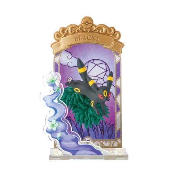 Photo1: Pokemon 2021 STAINED GLASS Collection vol.1 #5 Umbreon Mini Figure (1)