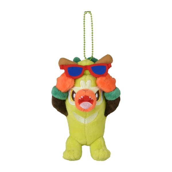Photo1: Pokemon Center 2020 Pokemon Galar Tabi Plush Mascot Key Chain Thwackey (1)