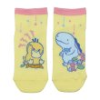 Photo1: Pokemon Center 2020 Psyduck No-Tenki Socks for Women 23 - 25 cm 1 Pair Psyduck & Quagsire (1)