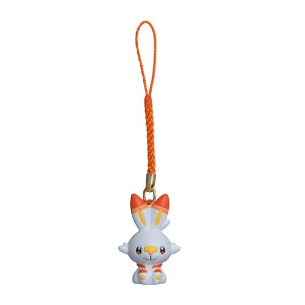 Photo1: Pokemon Center 2021 Bell Charm Strap Scorbunny (1)
