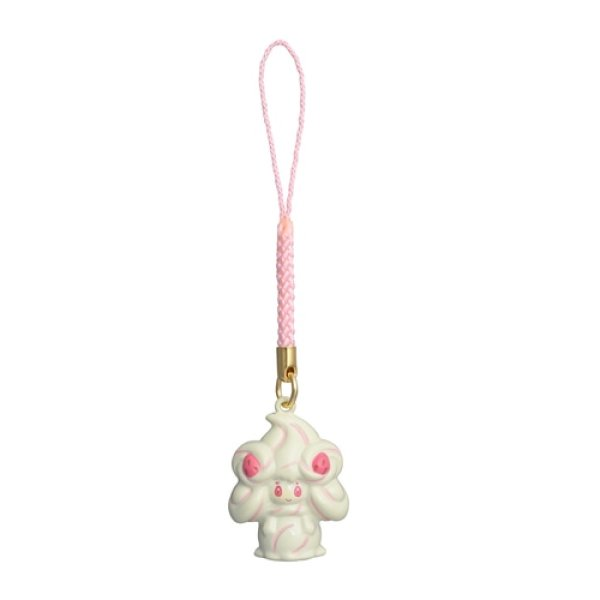 Photo1: Pokemon Center 2021 Bell Charm Strap Alcremie (1)
