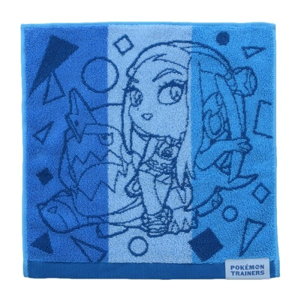 Photo1: Pokemon Center 2020 Pokemon Trainer Hand towel Handkerchief Nessa Drednaw (1)