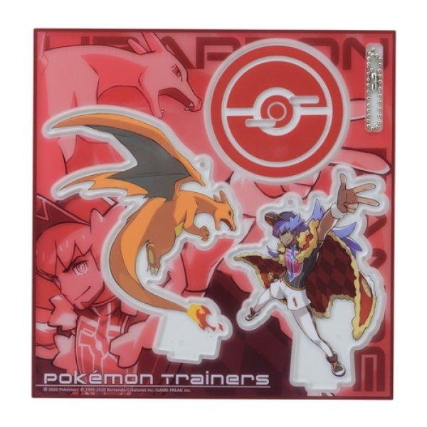 Photo1: Pokemon Center 2020 Pokemon Trainers Acrylic Stand Key Chain Leon Charizard (1)