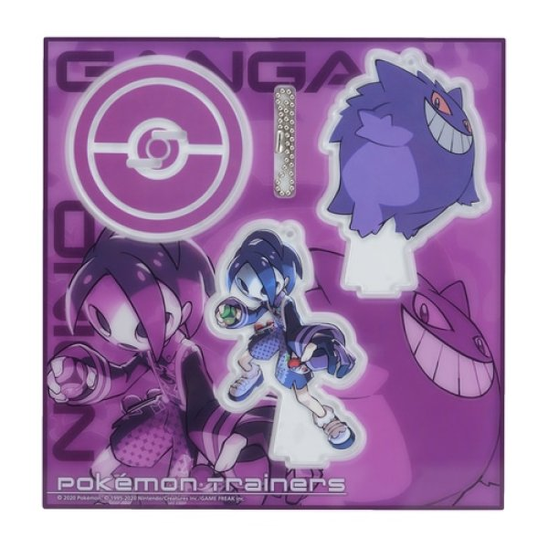 Photo1: Pokemon Center 2020 Pokemon Trainers Acrylic Stand Key Chain Allister Gengar (1)