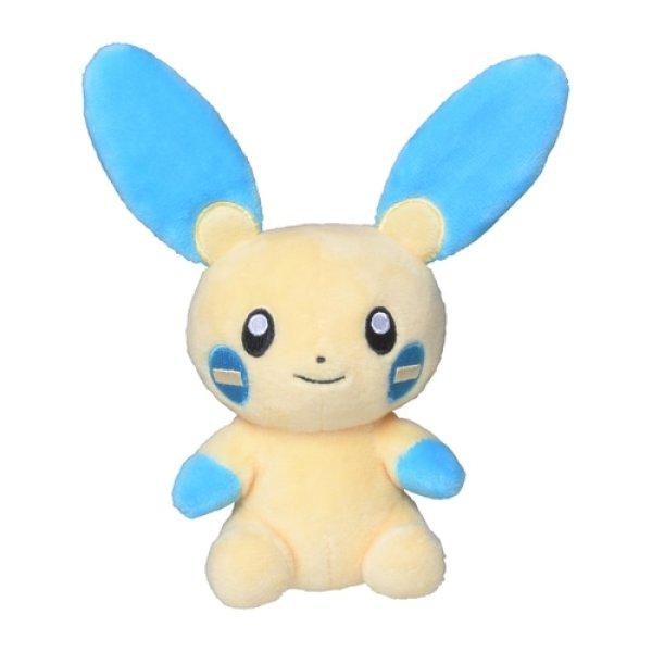 Photo1: Pokemon Center 2021 Pokemon fit Mini Plush #312 Minun doll Toy (1)