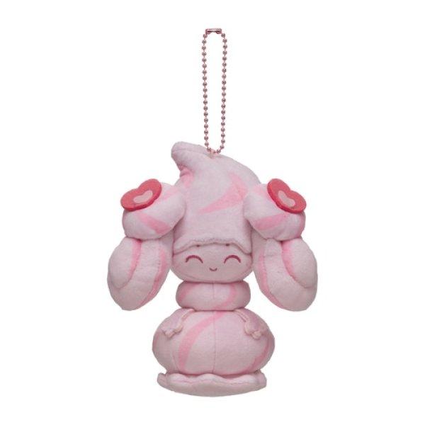 Photo1: Pokemon Center 2021 Mawhip a la mode Alcremie (Milky Ruby) Plush Mascot Key chain (1)