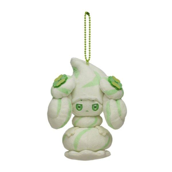 Photo1: Pokemon Center 2021 Mawhip a la mode Alcremie (Milky Matcha) Plush Mascot Key chain (1)