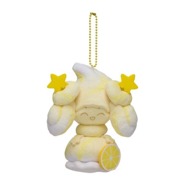 Photo1: Pokemon Center 2021 Mawhip a la mode Alcremie (Milky Lemon) Plush Mascot Key chain (1)
