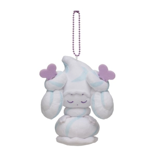 Photo1: Pokemon Center 2021 Mawhip a la mode Alcremie (Milky Salt) Plush Mascot Key chain (1)