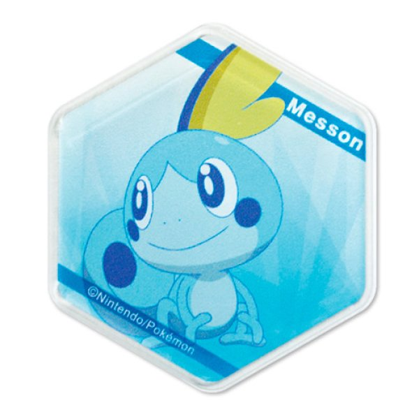 Photo1: Pokemon 2020 Honeycomb Acrylic magnet Sobble (1)