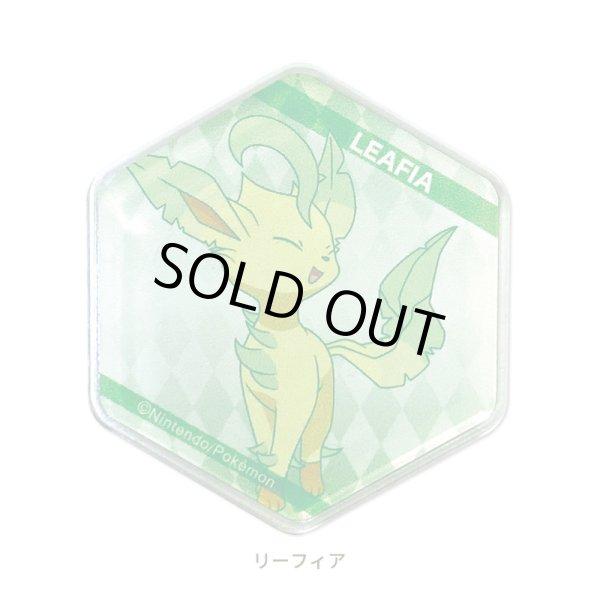 Photo1: Pokemon 2020 Honeycomb Acrylic magnet Leafeon (1)