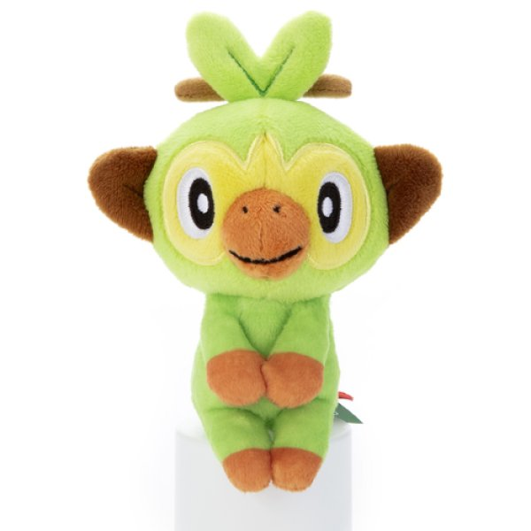 Photo1: Pokemon 2020 Takara Tomy Arts Chokkori-san Sitting Plush Chokkori Grookey (1)
