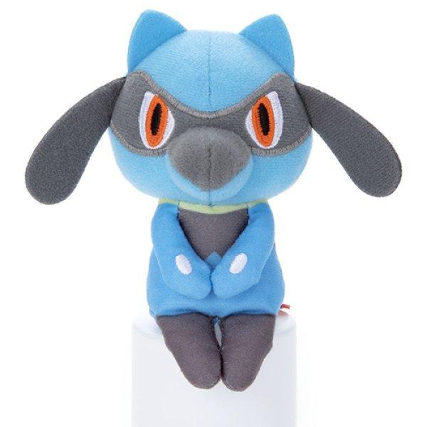 Photo1: Pokemon 2020 Takara Tomy Arts Chokkori-san Sitting Plush Chokkori Riolu (1)