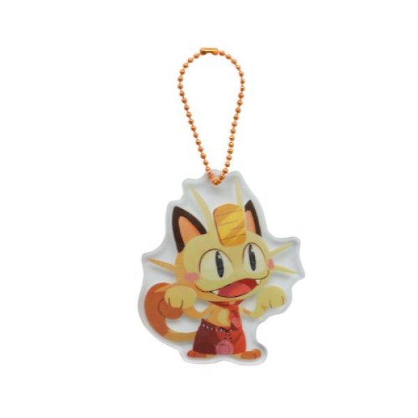 Photo1: Pokemon Center 2020 Pokemon Cafe Mix Acrylic Charm Key chain #12 Meowth (1)