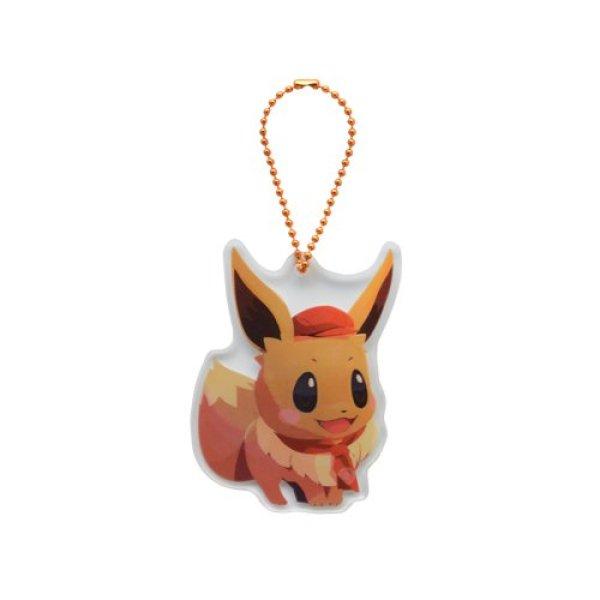 Photo1: Pokemon Center 2020 Pokemon Cafe Mix Acrylic Charm Key chain #2 Eevee (1)