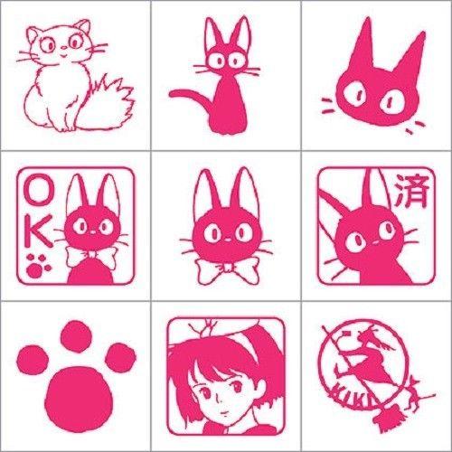 Studio Ghibli Kki's delivery service Totoro mini rubber Stamp set