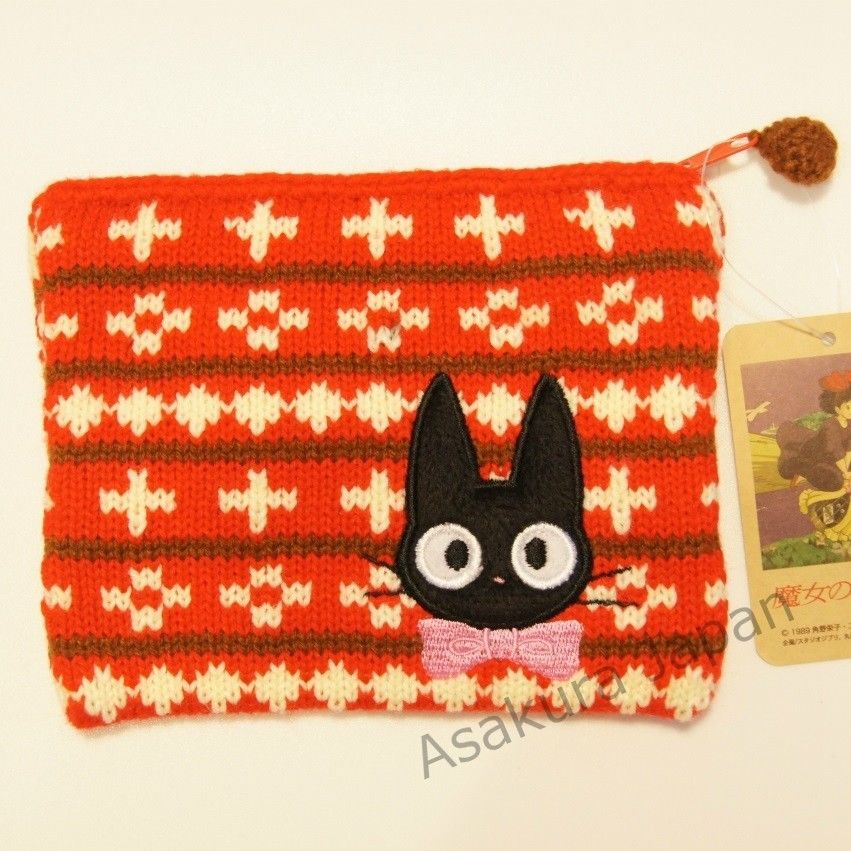 Studio Ghibli Kikis Delivery Service Knitted Flat Pouch Case Ribbon