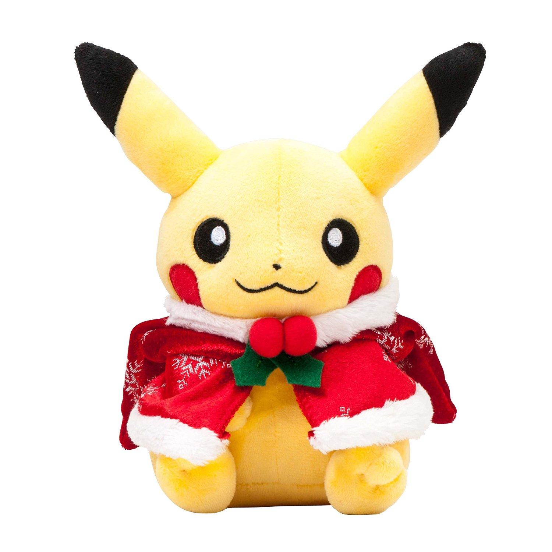 Christmas Plush Toys : Pokemon center christmas illumination poncho pikachu