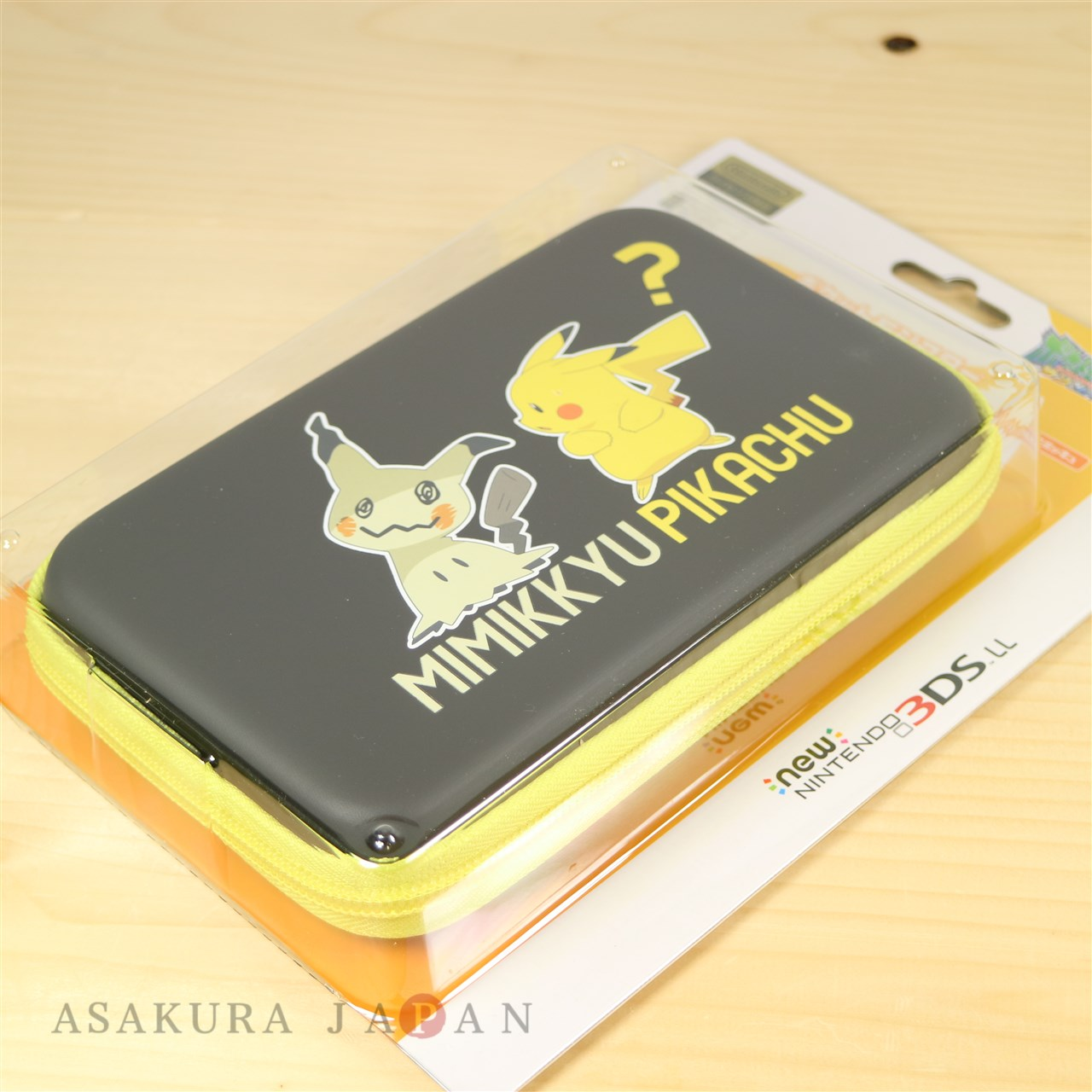 New Nintendo 3ds Ll Xl Hard Pouch Case Pikachu And Mimikyu Yellow Edition 17011807