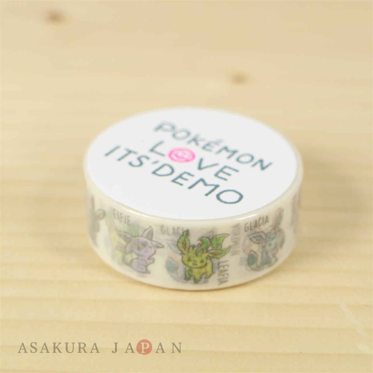POKEMON LOVE ITS\' DEMO Decorative Sticky Paper Masking Tape #5 ...