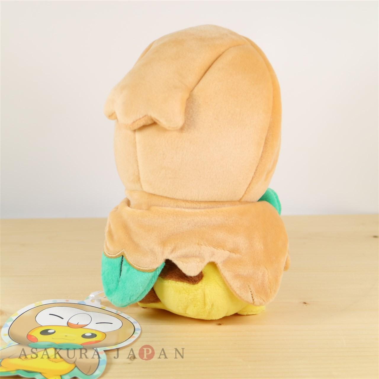 Pokemon Center Tohoku Poncho Pikachu Series Rowlet ver Plush doll From Japan