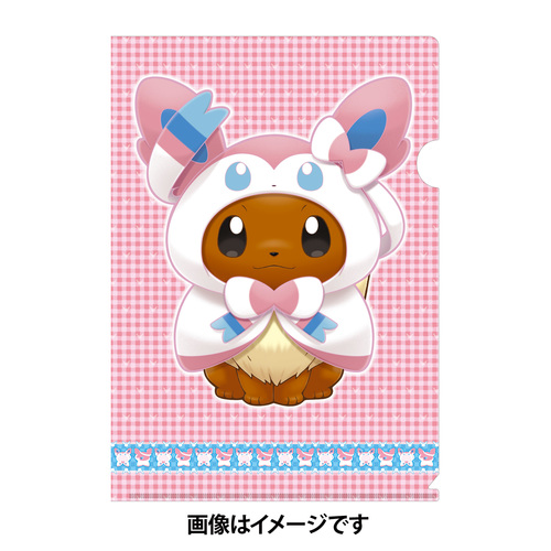 Pokemon Center 2017 Eevee Poncho Series A4 Size Clear File Folder Sylveon 17100908
