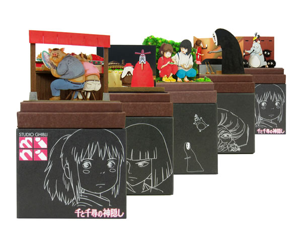 Studio Ghibli Mini Paper Craft Kit Spirited Away 58 Haku S Rice Ball