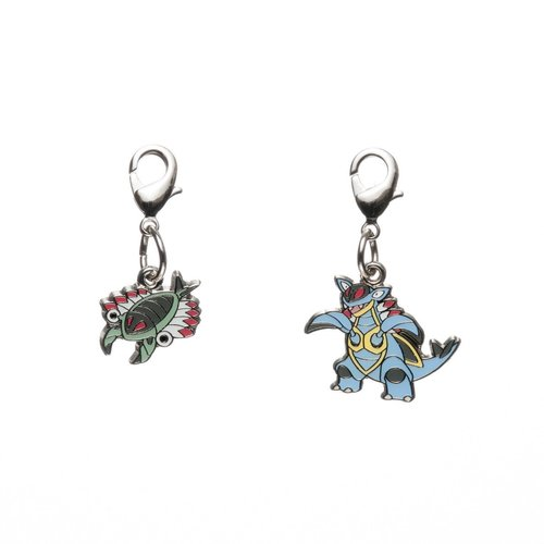 Pokemon Center Metal Charm # 347 348 Anorith Armaldo Key Chain