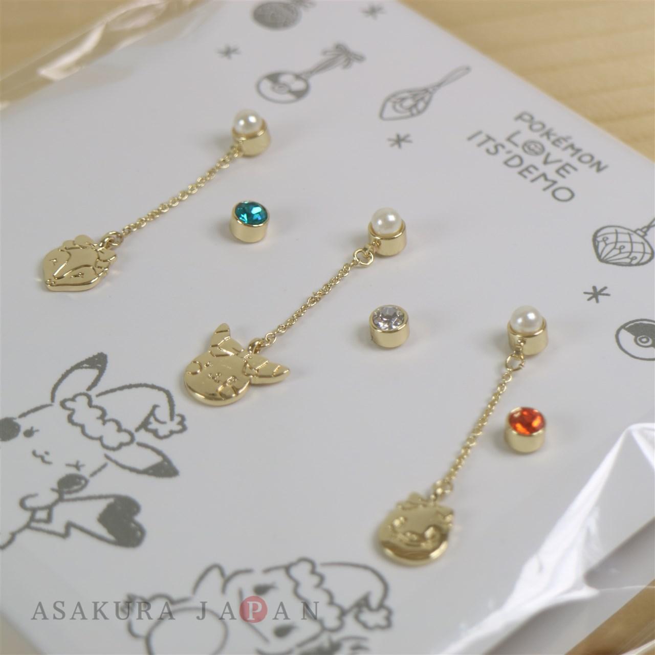 POKEMON LOVE ITS/' DEMO Christmas Pierce Pierced Earrings 6 pcs Pikachu