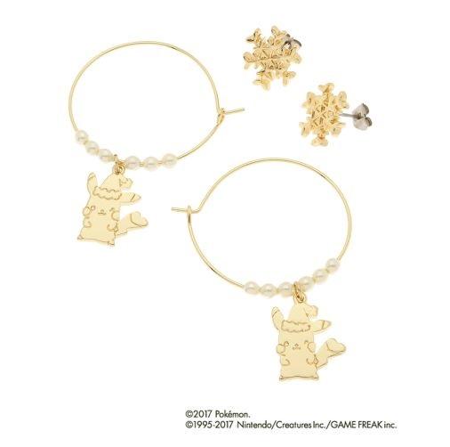 fbda0446f POKEMON LOVE ITS' DEMO Christmas Hoop Pierce Pierced Earrings Pikachu  [17112208]