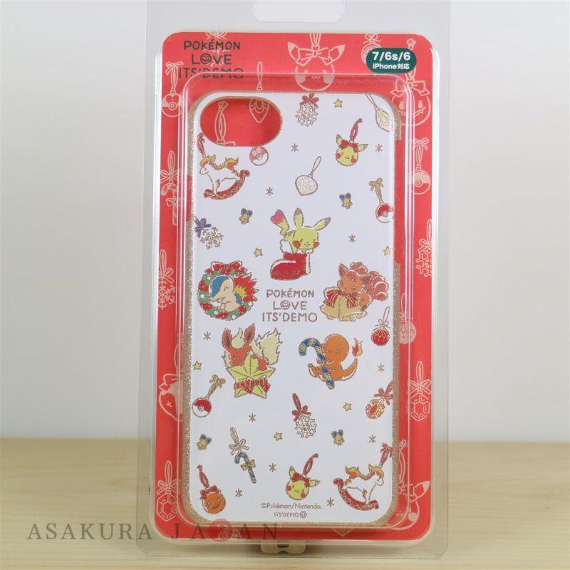 pokemon love its demo christmas iphone 76s6 cover hard case pikachu vulpix 17112227
