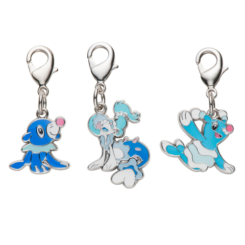 Pokemon Center 2017 Metal Charm 728 729 730 Popplio Brionne