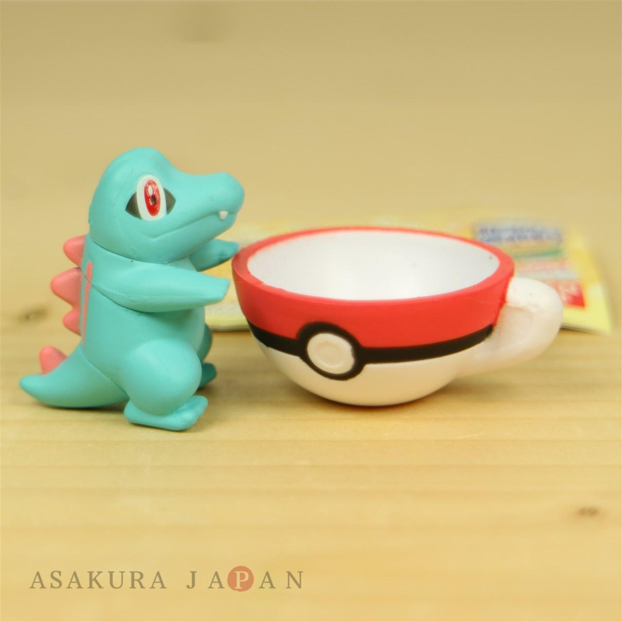 Pokemon Teacup Time Mascot Volume 2 Mini Figure Collection 0483095 Gashapon Tea Cup 4 24573 Gacha Vol4 Totodile Bandai 18072110
