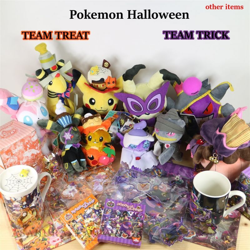 pokemon center 2018 halloween we are team treat sylveon plush doll 18091702