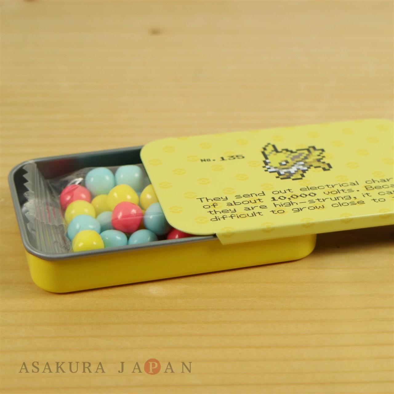 Japanese Pokemon center EEVEE DOT COLLECTION mini tin can box Espeon