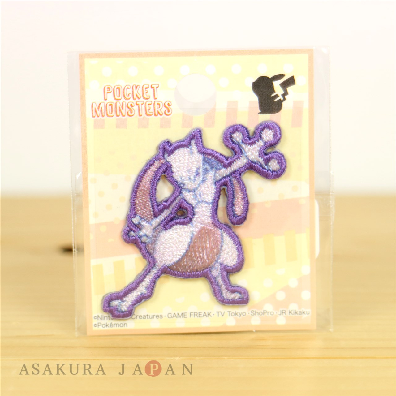 Pokemon Mini Embroidered Sew Iron On Patch Badge Mewtwo From Japan