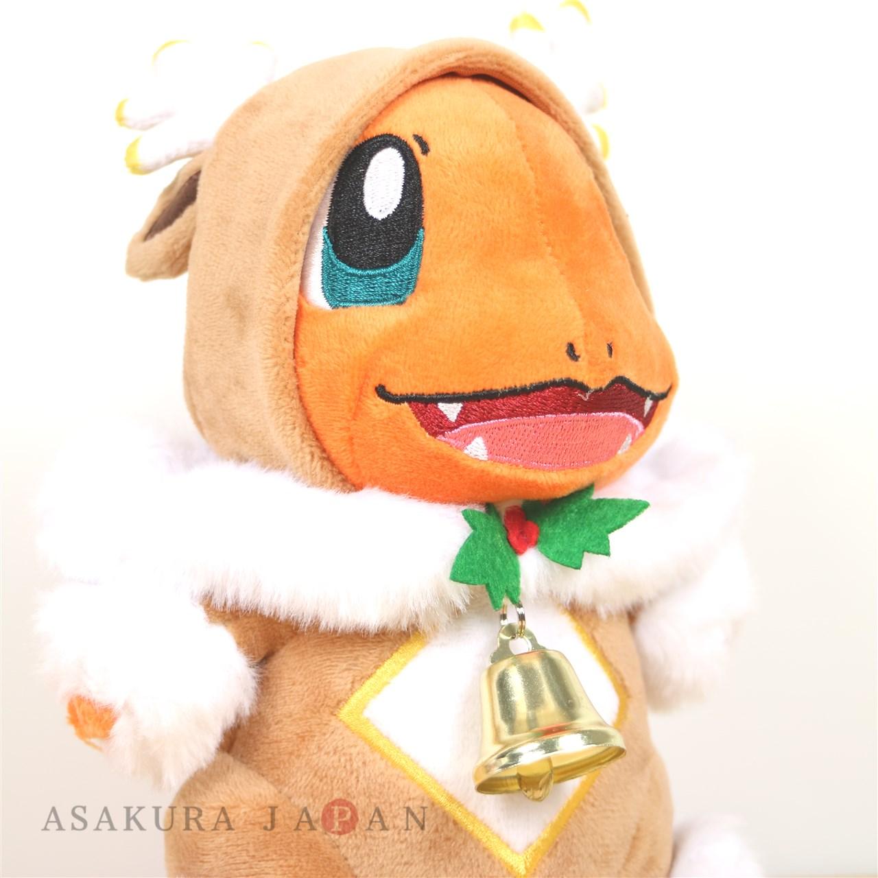 Pokemon Center Plush Doll Sawsbuck Poncho Charmander Pok?mon Frosty Christmas